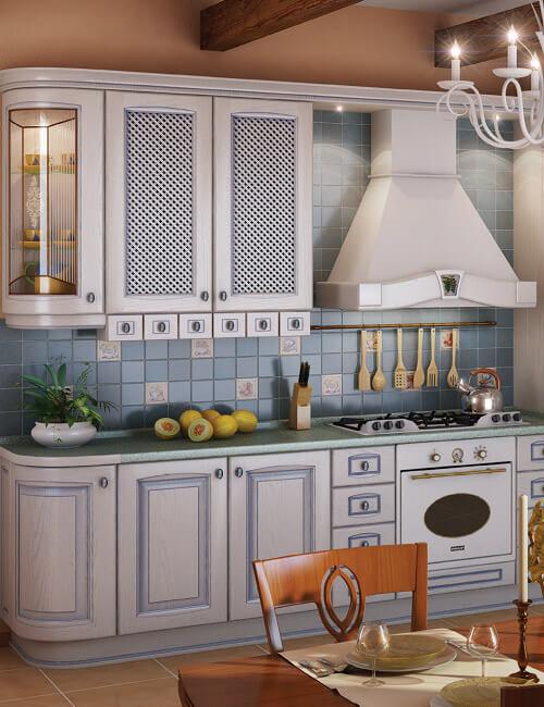 Кухня Искья синяя