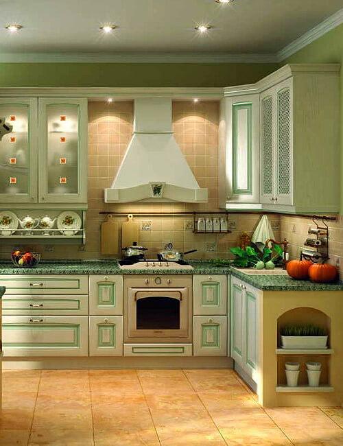 Кухня Искья зеленая