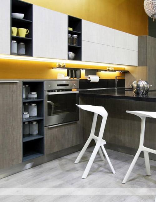кухни с фасадами из пластика5