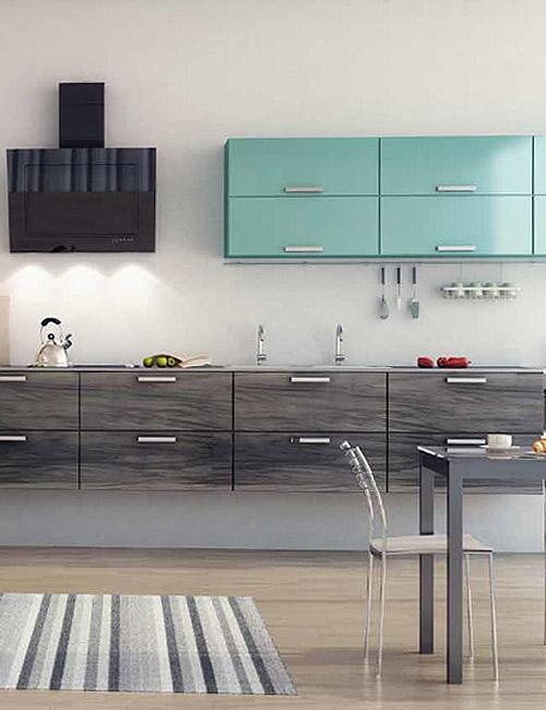 кухни с фасадами из пластика6