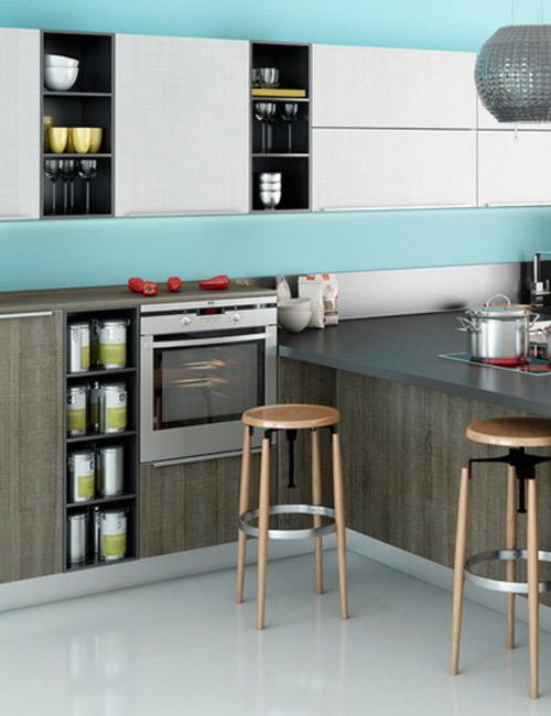 кухни с фасадами из пластика7