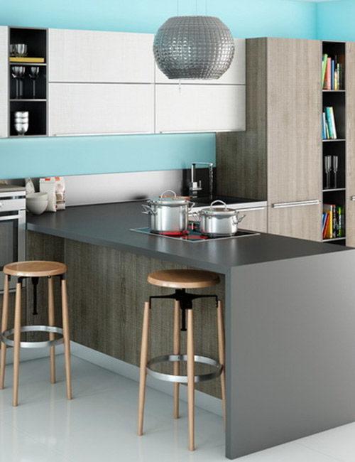 кухни с фасадами из пластика8