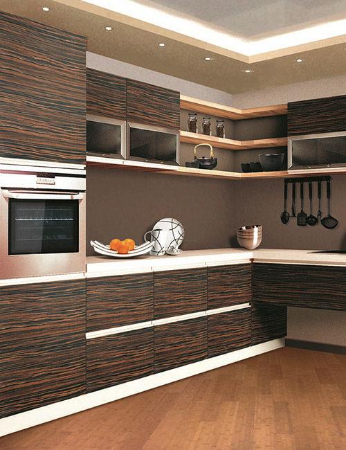 кухни с фасадами из шпона 2