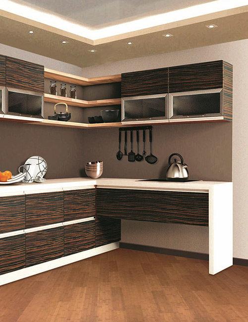 кухни с фасадами из шпона 3