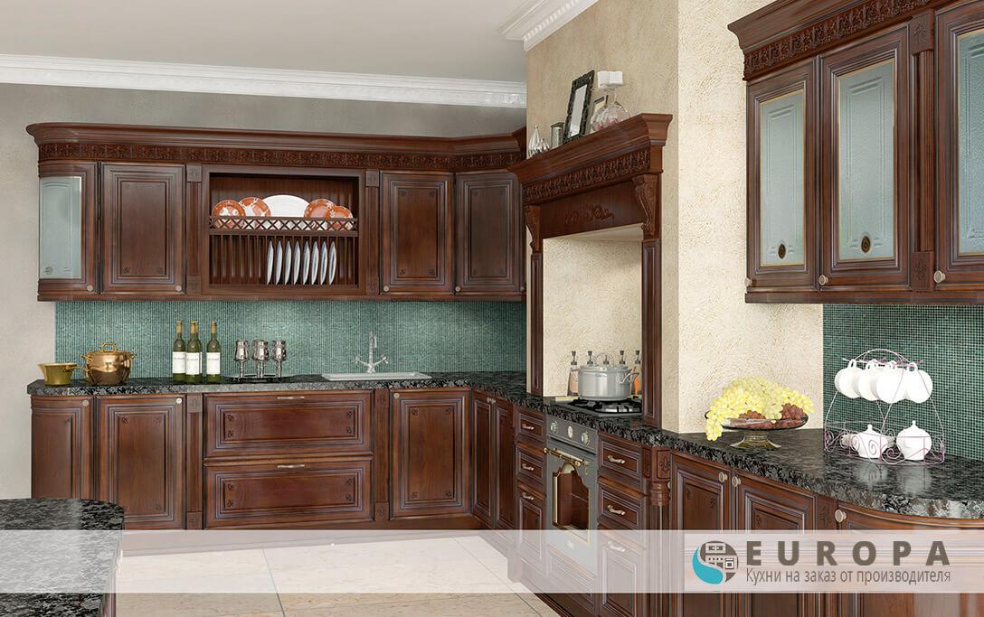 Кухня Лукреция цвет орех на заказ
