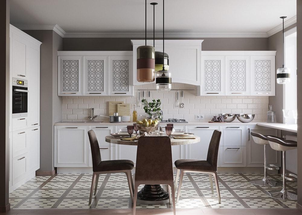 Кухня Палермо белая