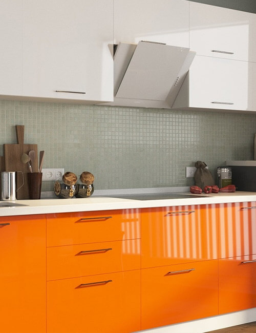 Недорогие кухни с фасадами из пластика