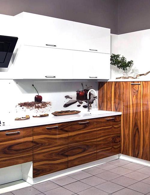 кухни с фасадами из шпона 1