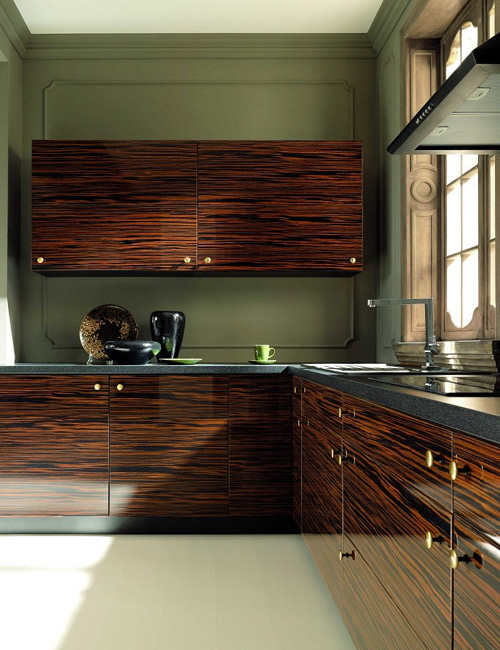 кухни с фасадами из шпона 4