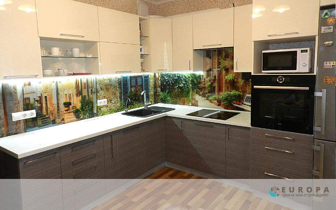 Кухня Акрилайн Зебрано Крем