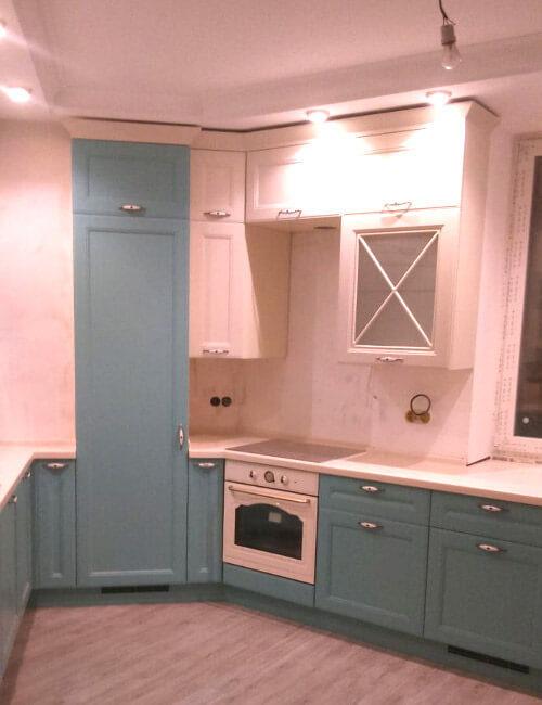 Кухня Шопен с крашенными МДФ фасадами